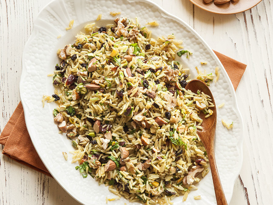 Mixed nut rice pilaf