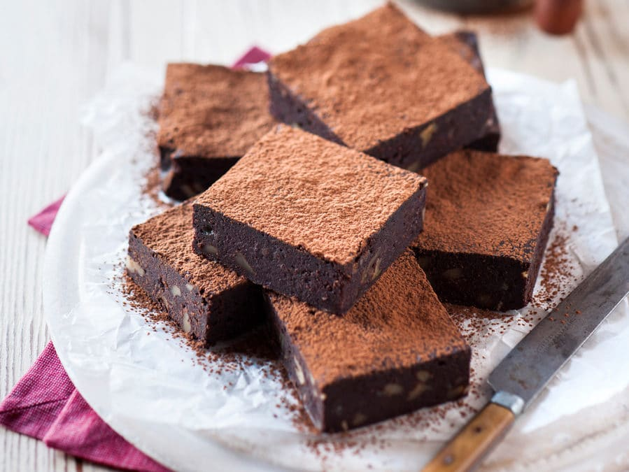 Chocolate, Beetroot & Walnut Brownies